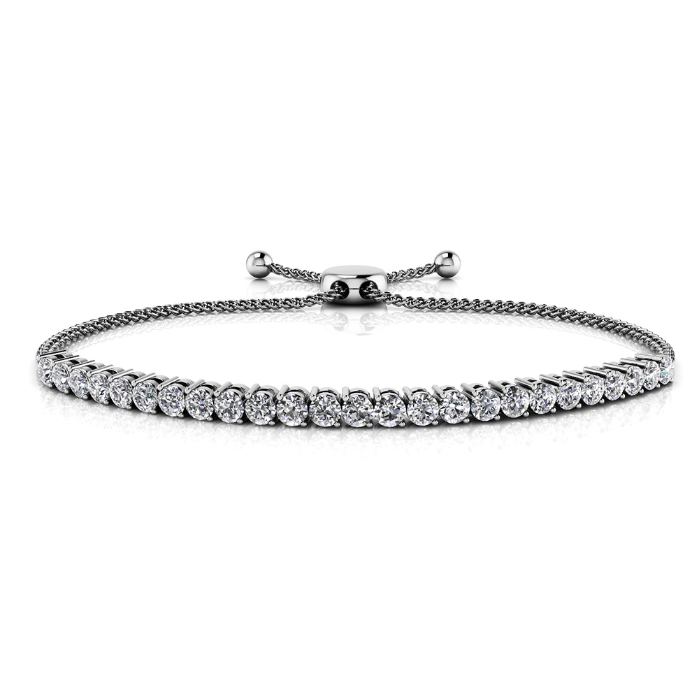 Image of Adjustable 2 Prong Diamond Bracelet