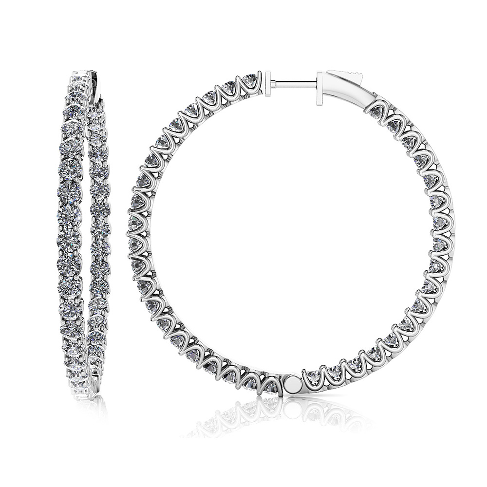 Image of Extra Large Hoop Diamond Earrings