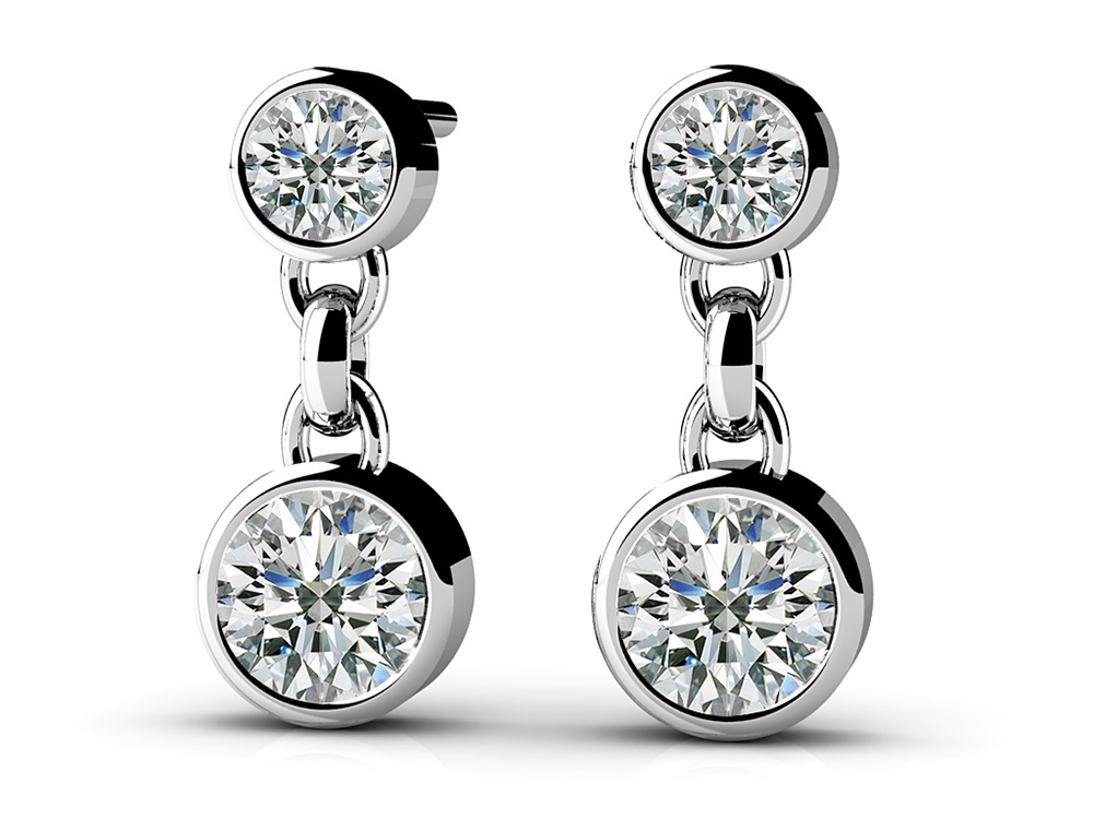 Image of Diamond Dangle Earrings