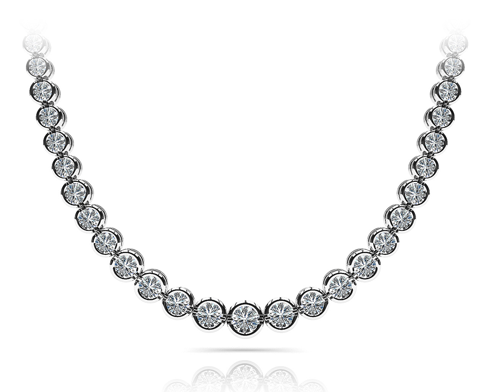 Image of Classic Diamond Strand Necklace