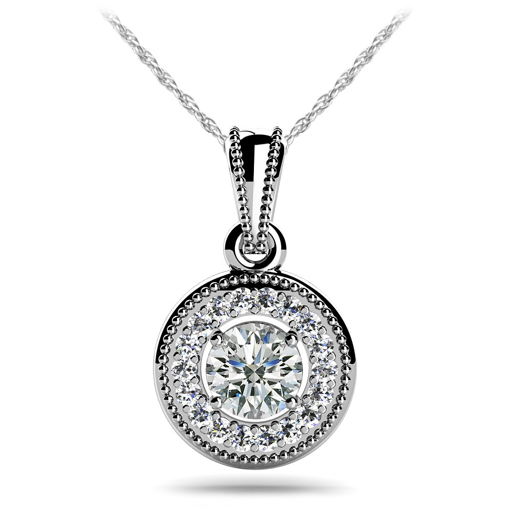 Image of Center Diamond Circle Pendant