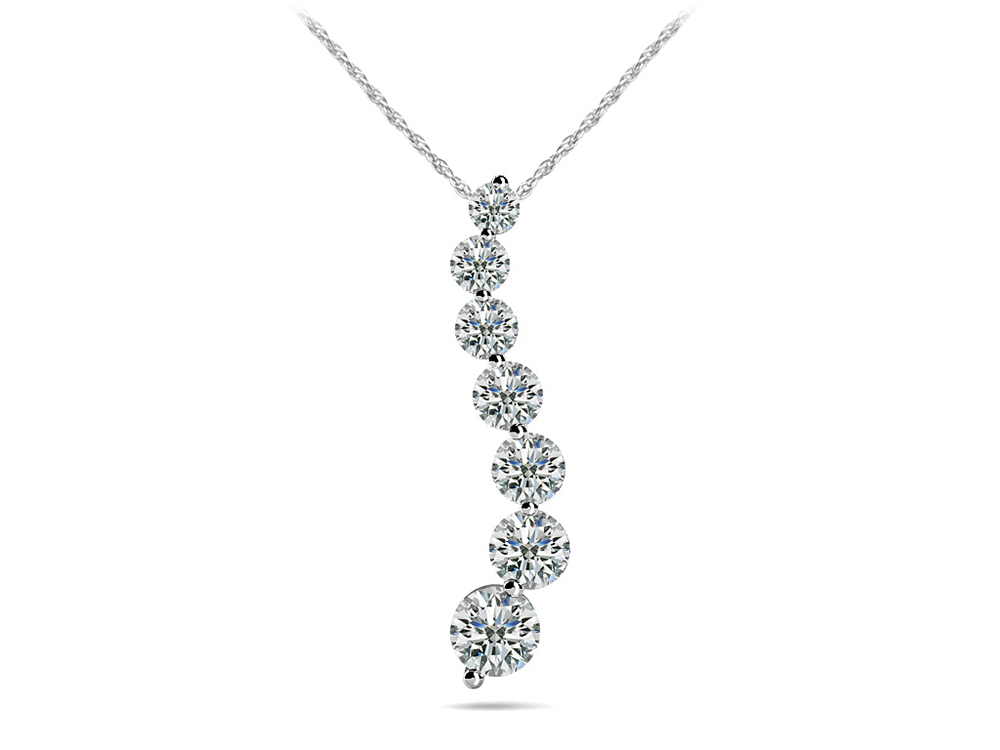 Image of Classic Diamond Journey Necklace