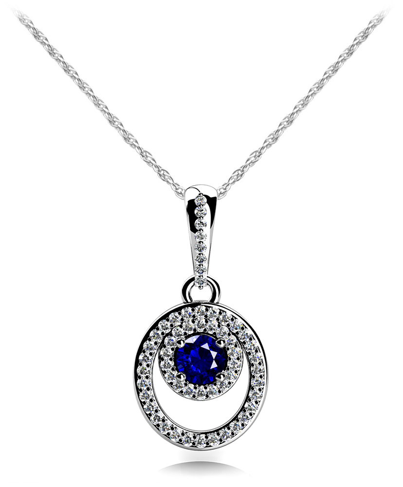 Image of Combination Gemstone Drop Pendant