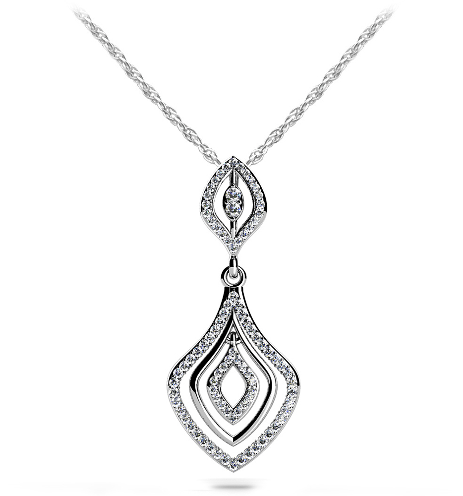 Image of Art Deco Diamond Drop Pendant