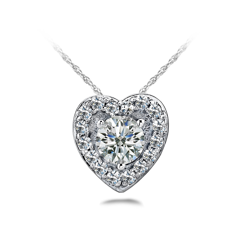 Image of Diamond Center Heart Pendant