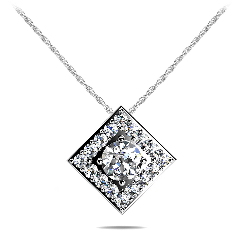Image of Diamond Centered Diamond Pendant