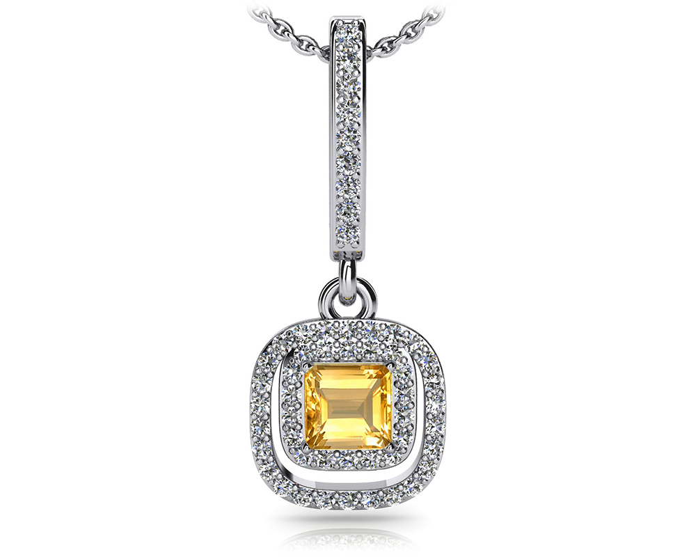 Image of Day to Night Diamond and Gem Drop Pendant