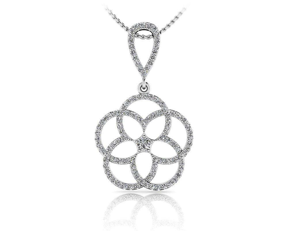 Image of Circles of Love Diamond Pendant