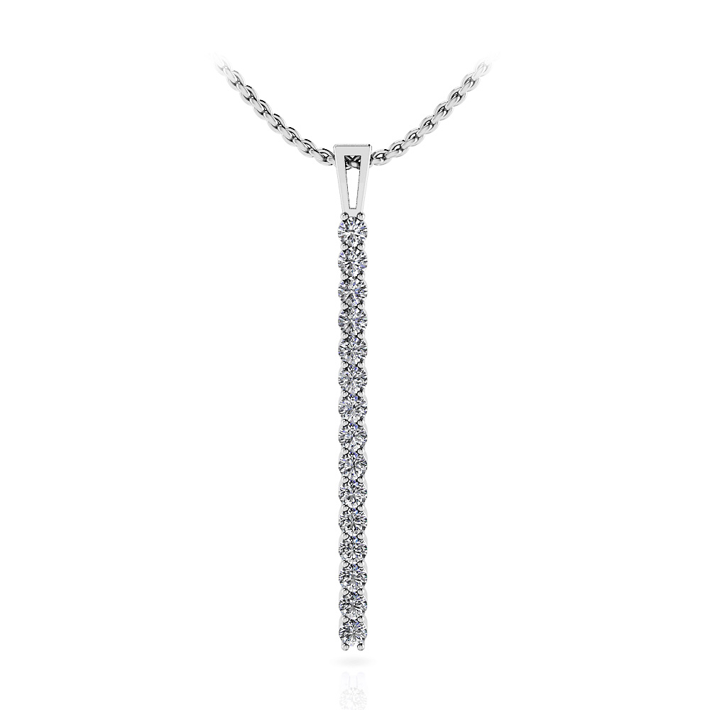Image of Diamond Drop Bar Pendant