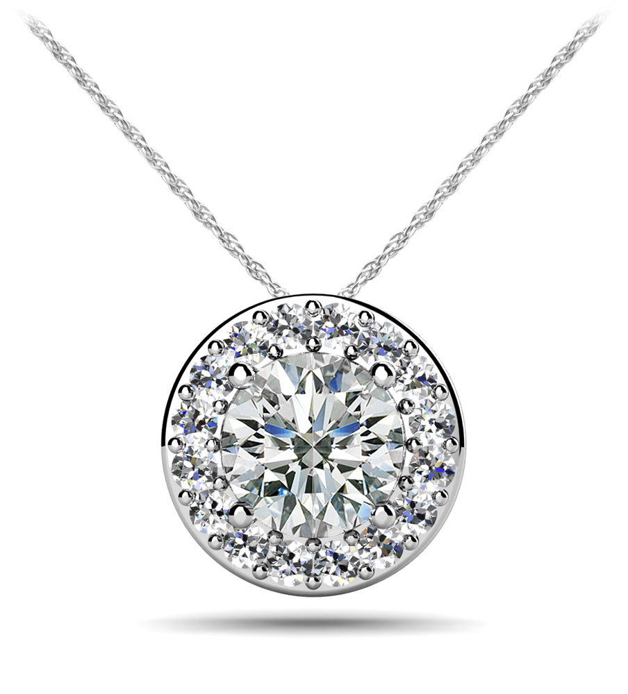 Image of Surrounded With Love Diamond Pendant