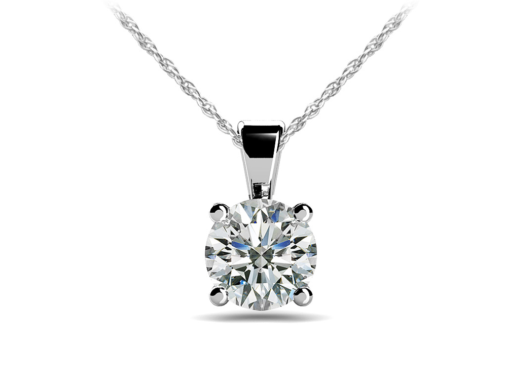 Image of Be Mine Diamond Solitaire Pendant