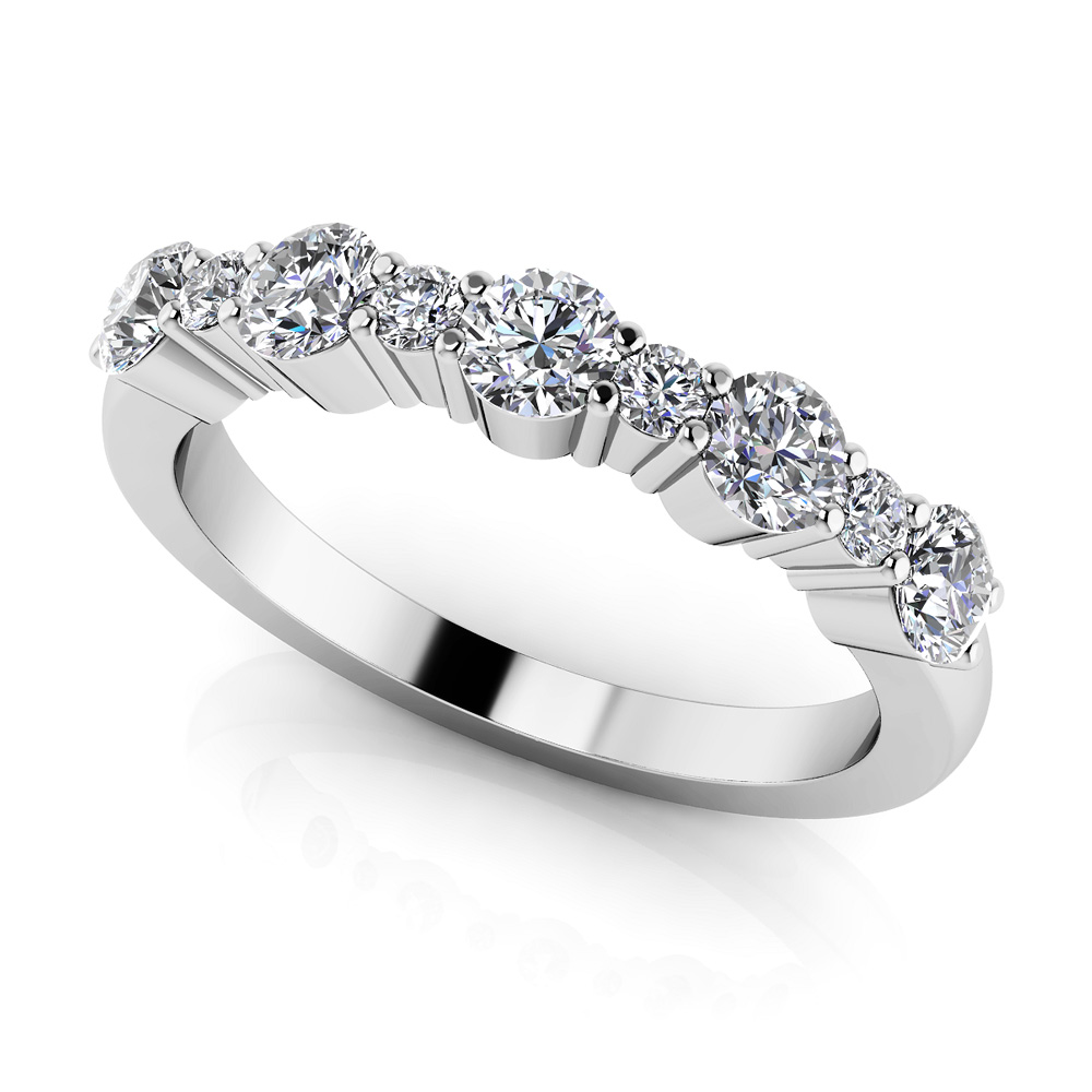 Image of Alternating Diamond Anniversary Ring