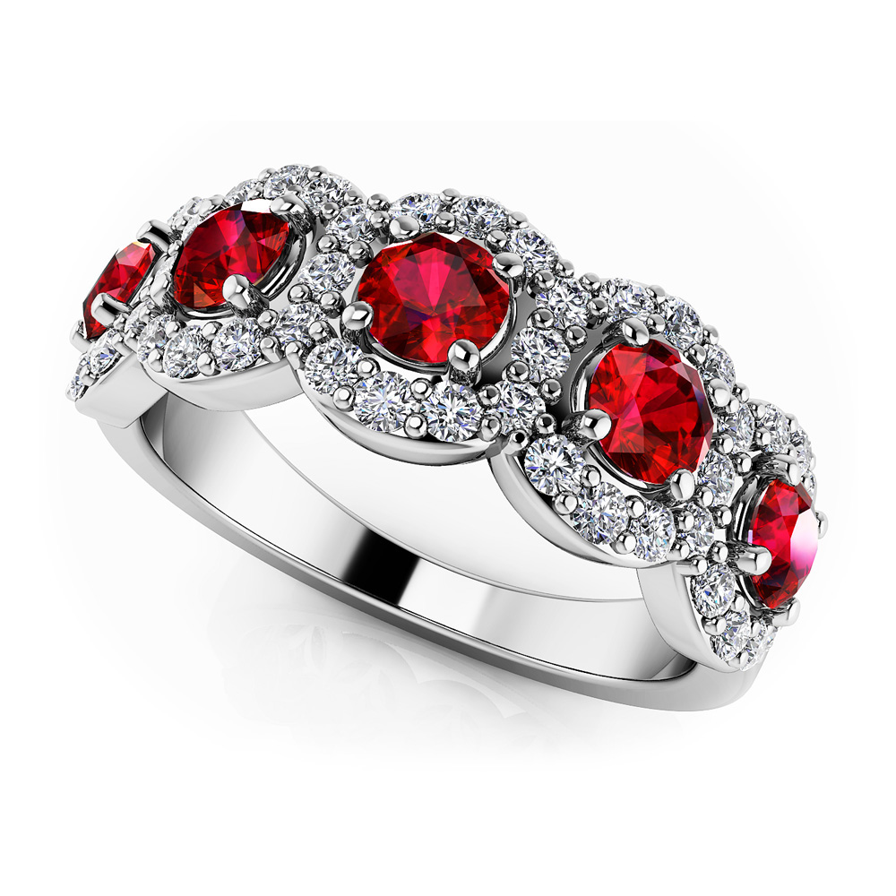 Image of Blooming Color Gemstone Anniversary Ring