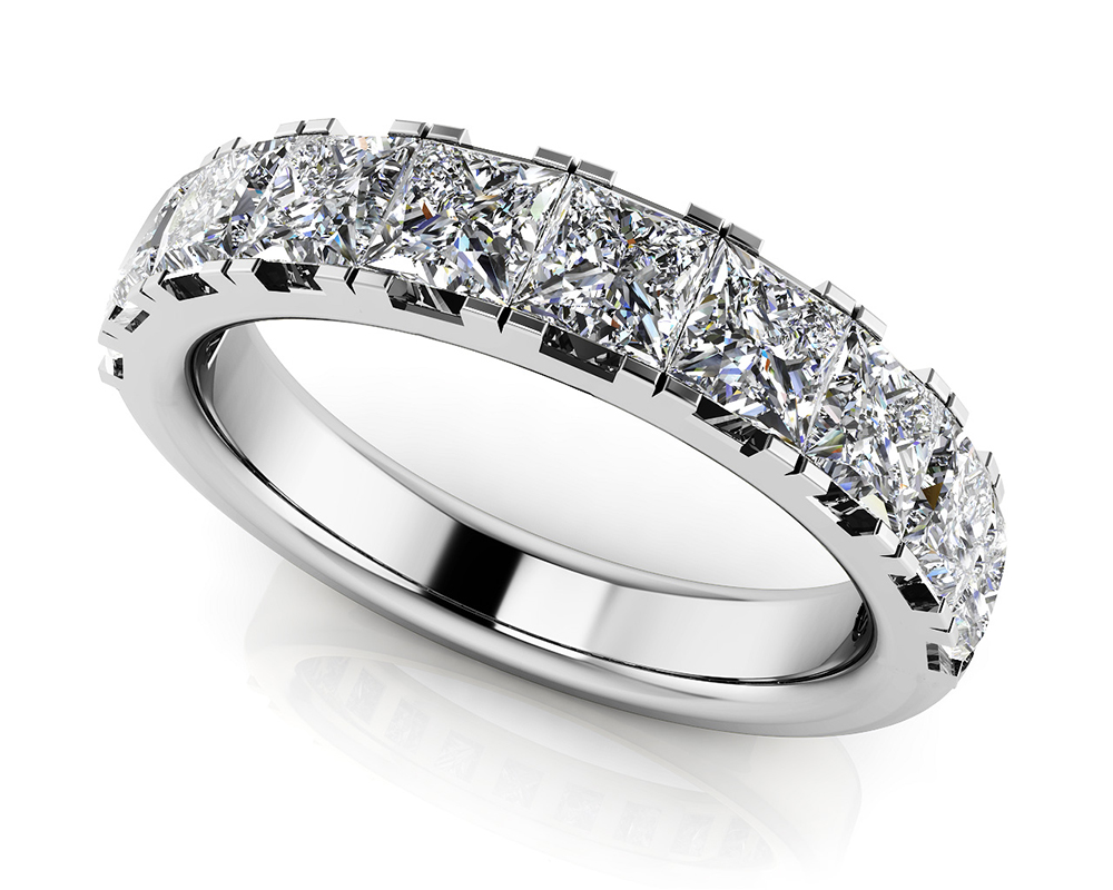 Image of Four Prong Princess Cut Diamond Ring