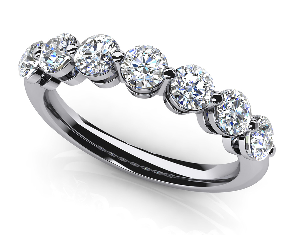 Image of Brilliant 7 Diamonds Anniversary Ring