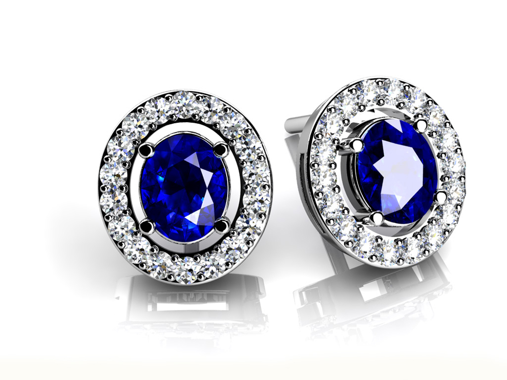 Image of Legendary Oval Gemstone Stud Earrings