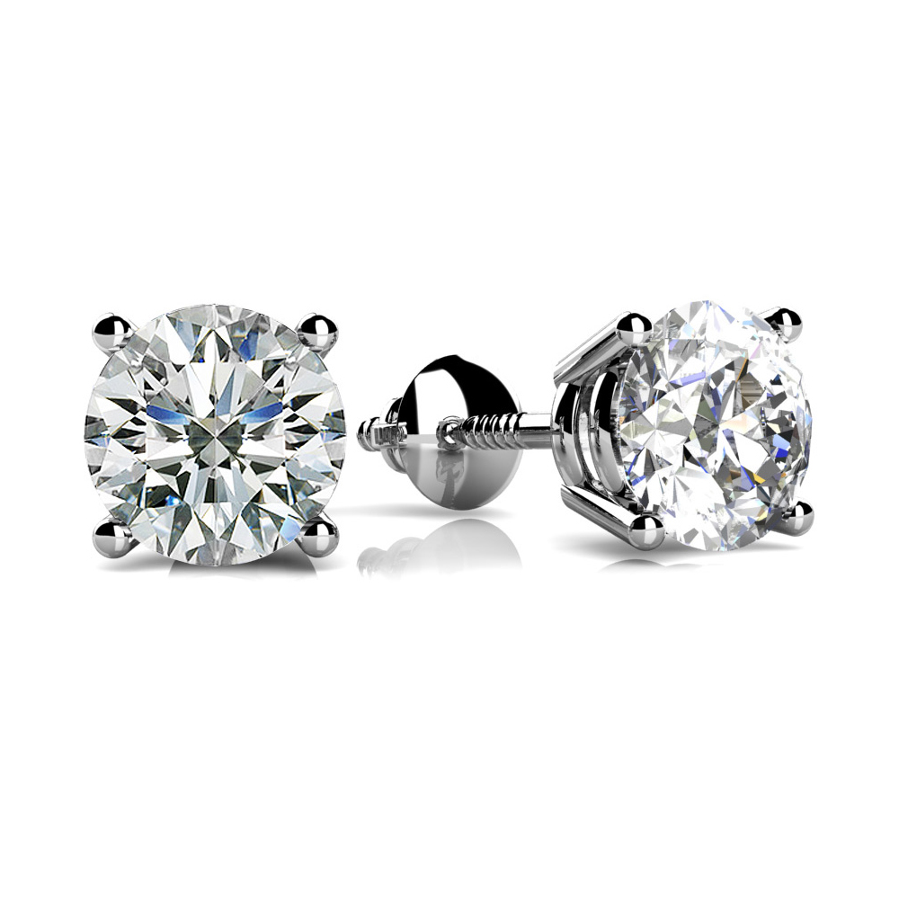 Image of Classic Four Prong Diamond Studs