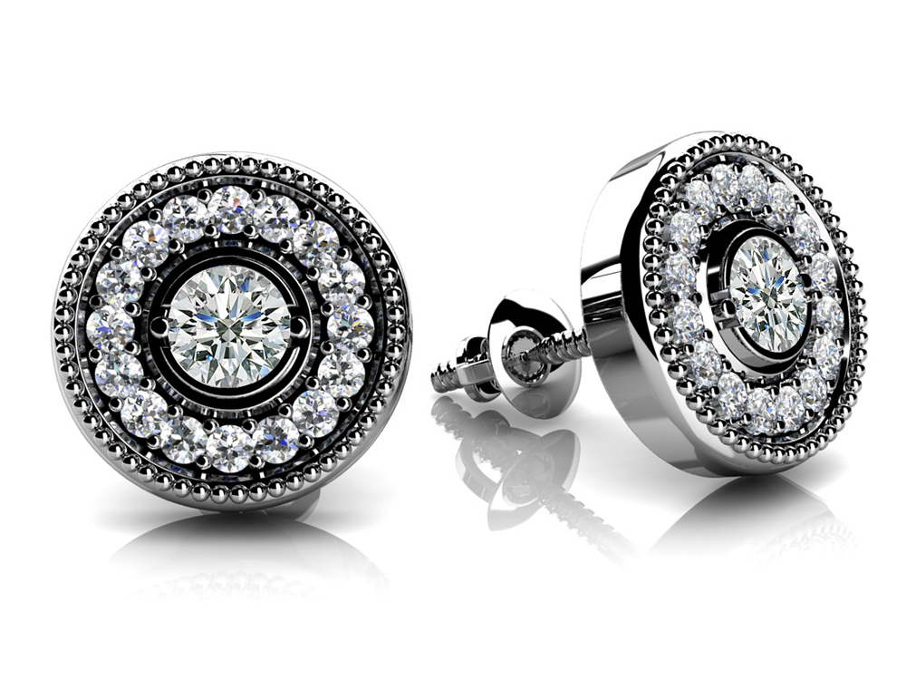 Image of Diamond Circle Studs
