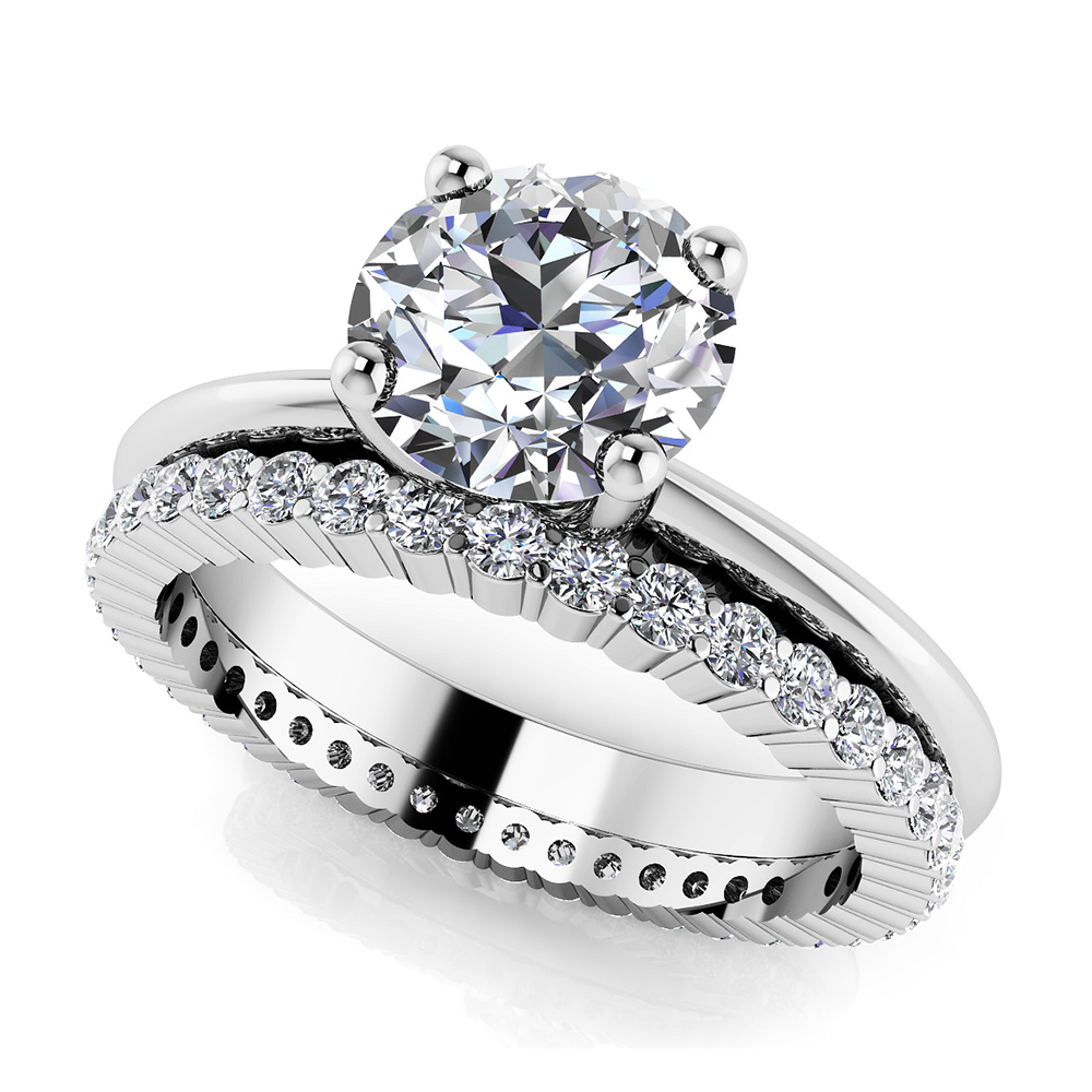 Image of Eternal Light Round Solitaire Bridal Set