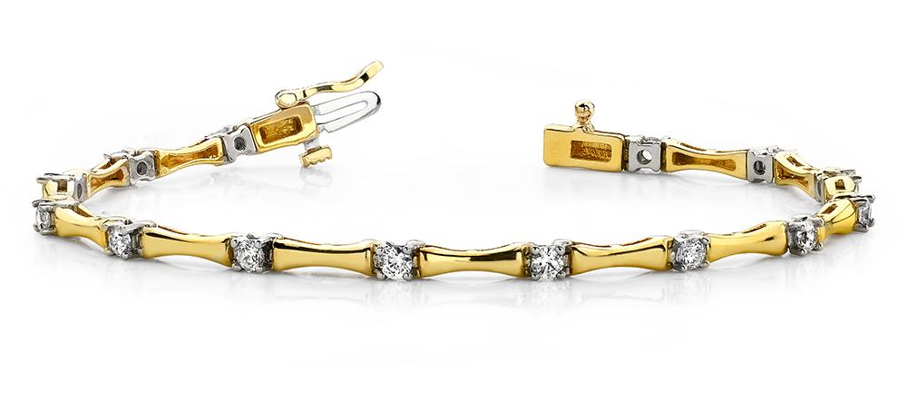 Image of Alternating Diamond Column Bracelet