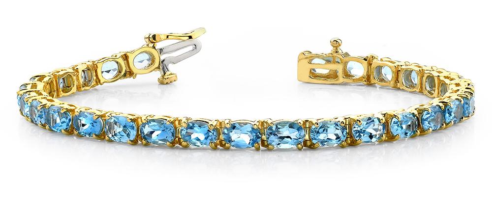 Image of Oval Colored Stone Bracelet