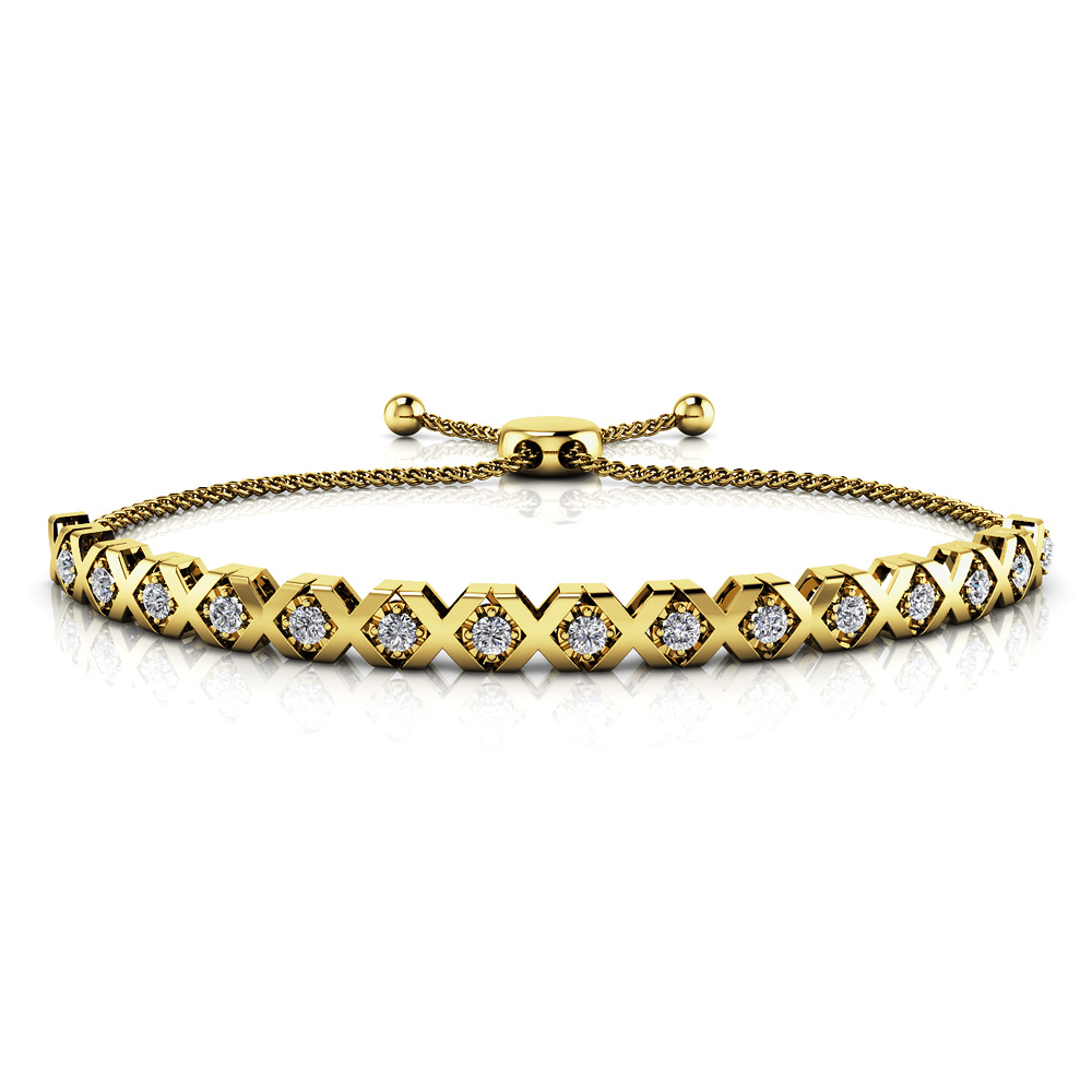 Image of Adjustable XOXO Diamond Bracelet