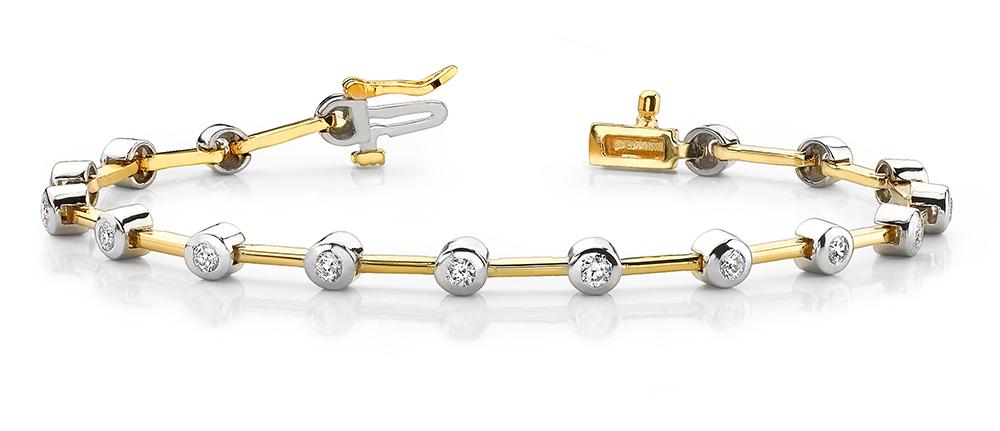 Image of Bezel Set Diamond Bracelet