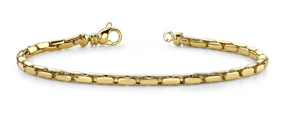 Image of Small Flat Oval Link Metal Bracelet