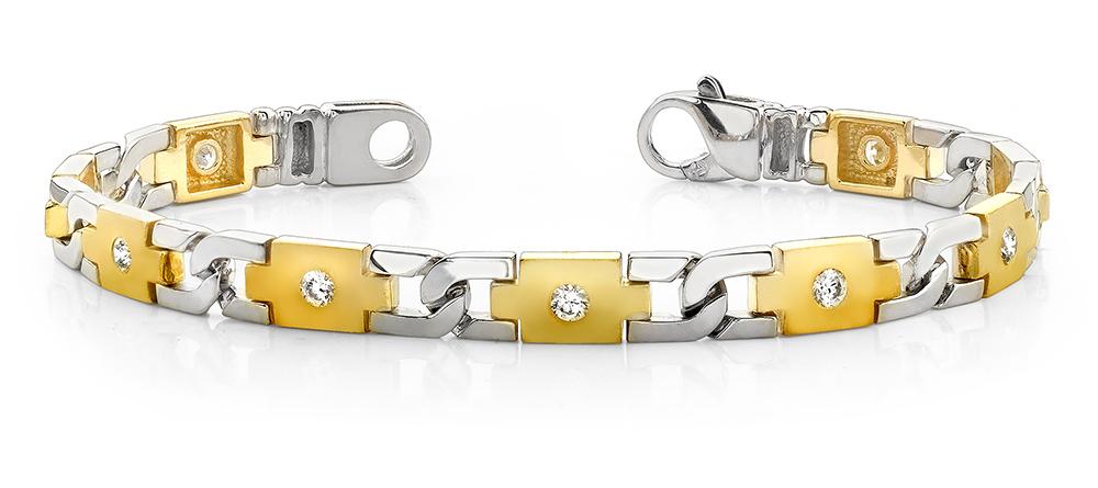 Image of Diamond Plus Link Bracelet