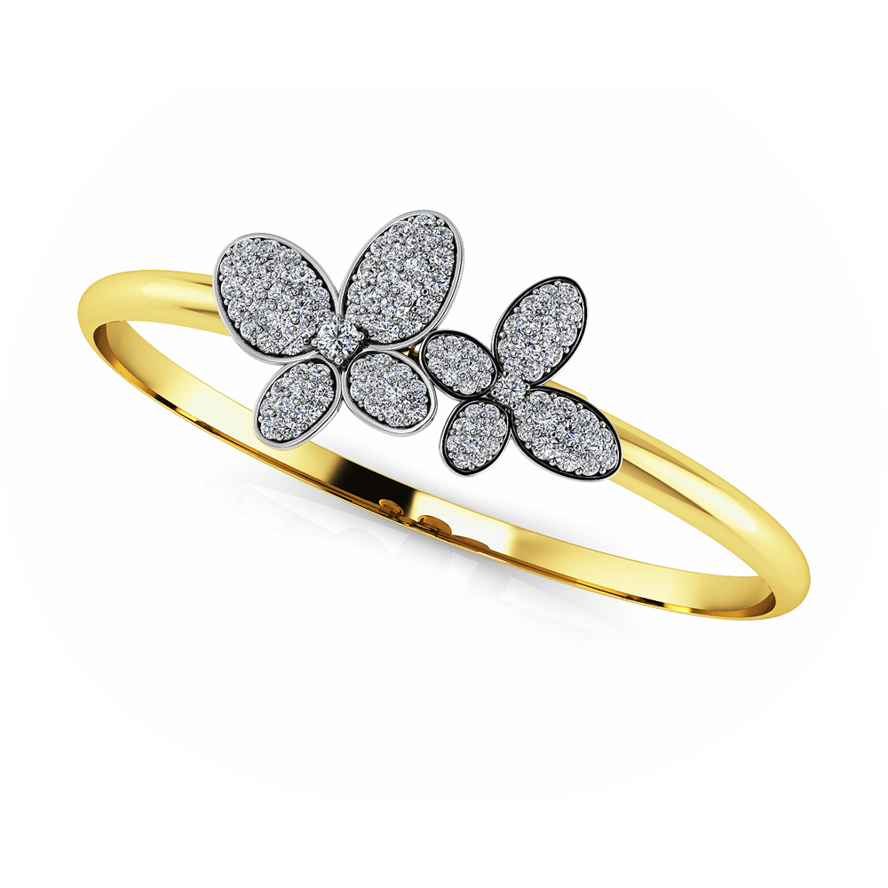 Image of Enchanting Diamond Butterfly Bangle