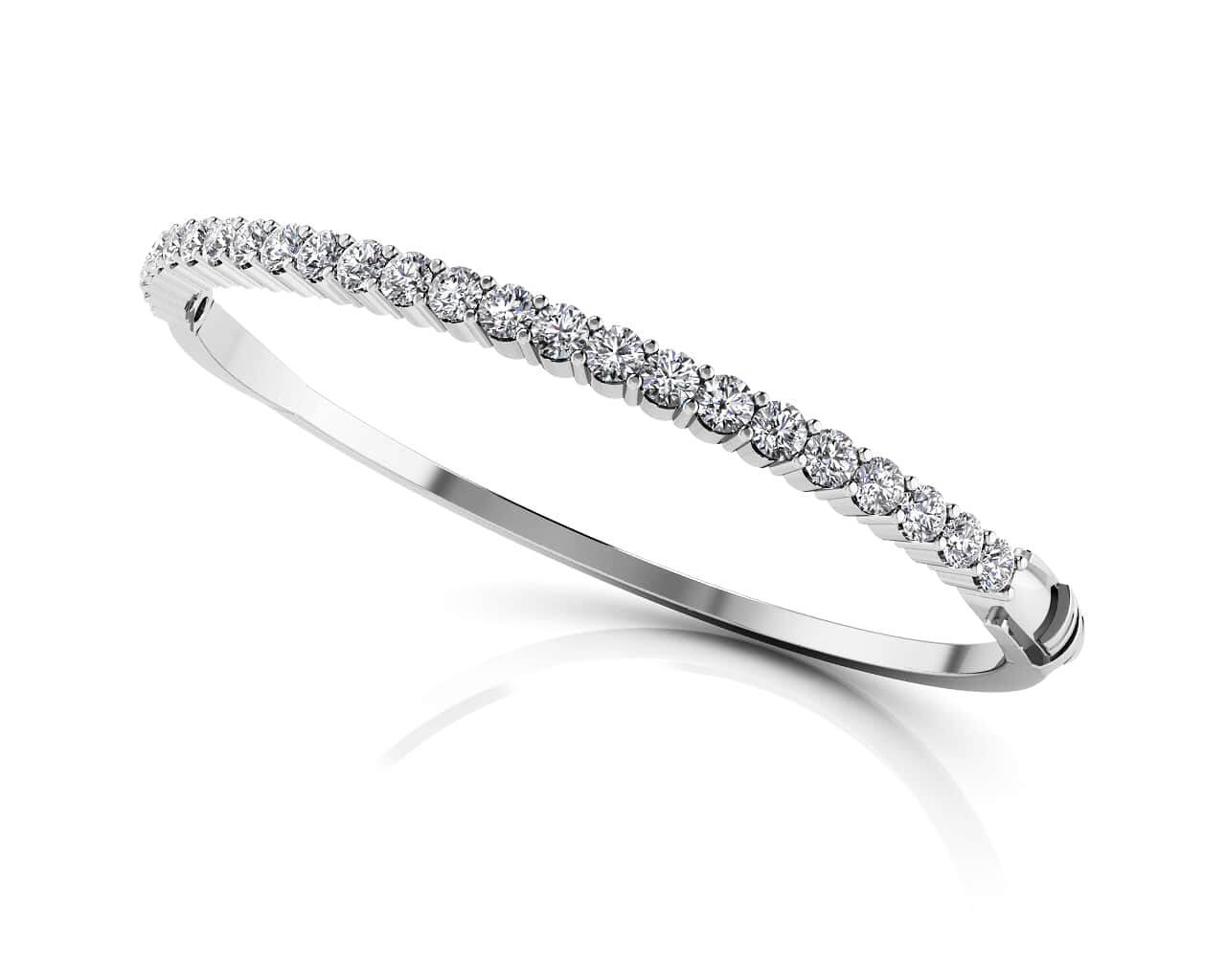 diamond bangles pave white solid gold bangle bracelets round bracelet