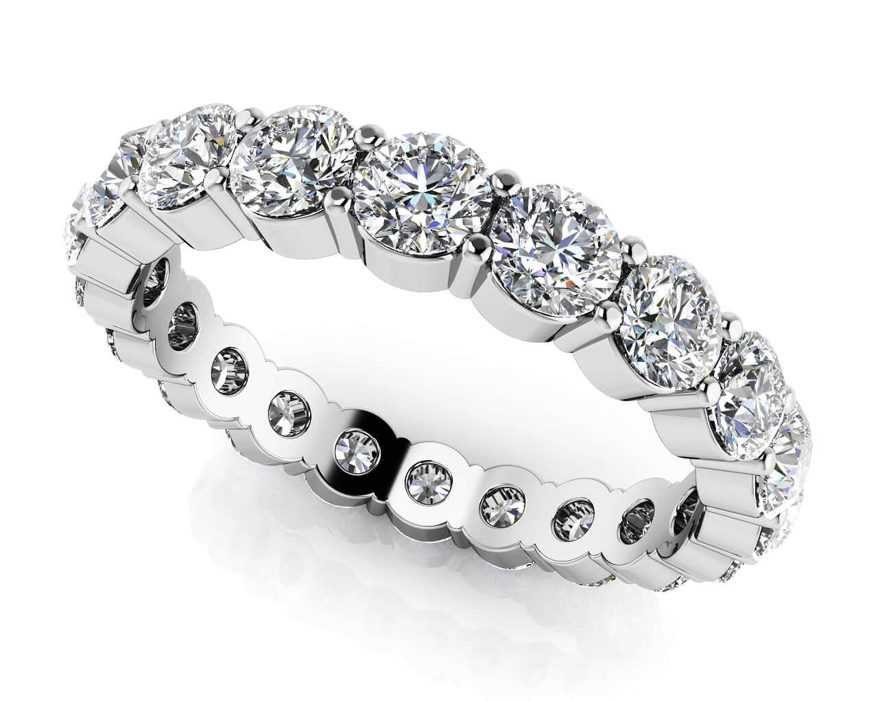 leaf in ring bezel preville eternity diamond bands penny jewelry metallic normal band lyst product