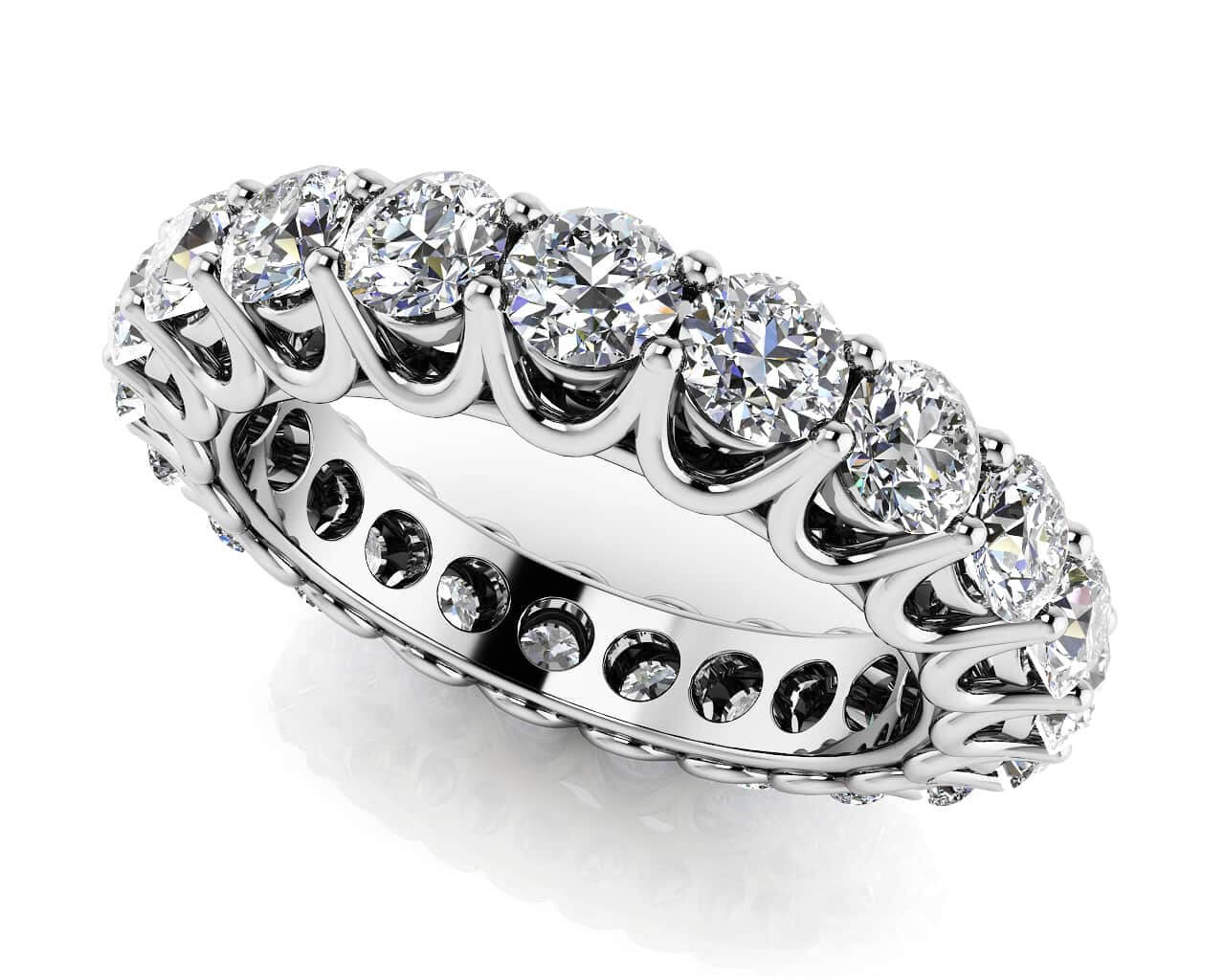 unique shared prong eternity ring