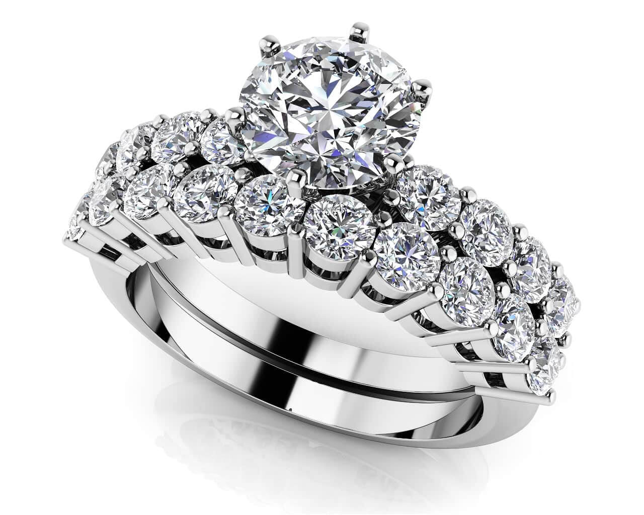 Matching Diamond Bridal Sets