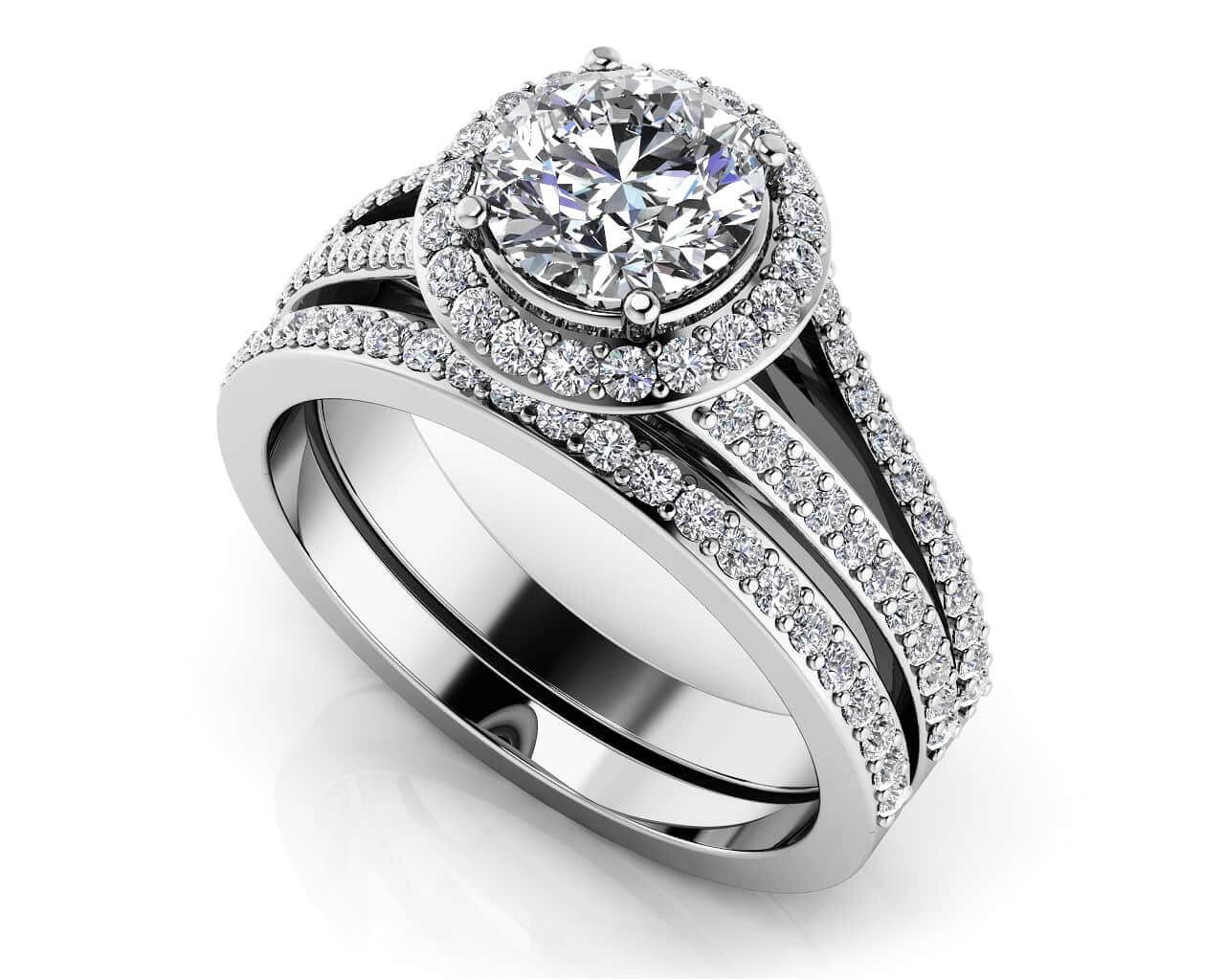 customize your wedding set matching diamond bridal set - Wedding Set Rings