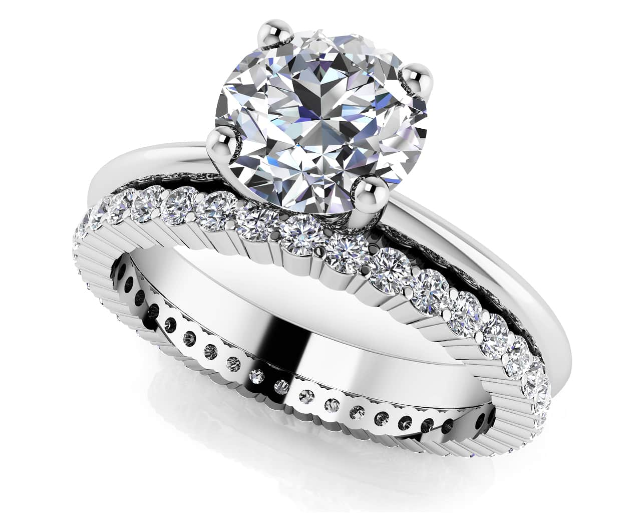 set solitaire vancouver ring with diamond bridal wedding custom tapered sets matching rings engagement pavee