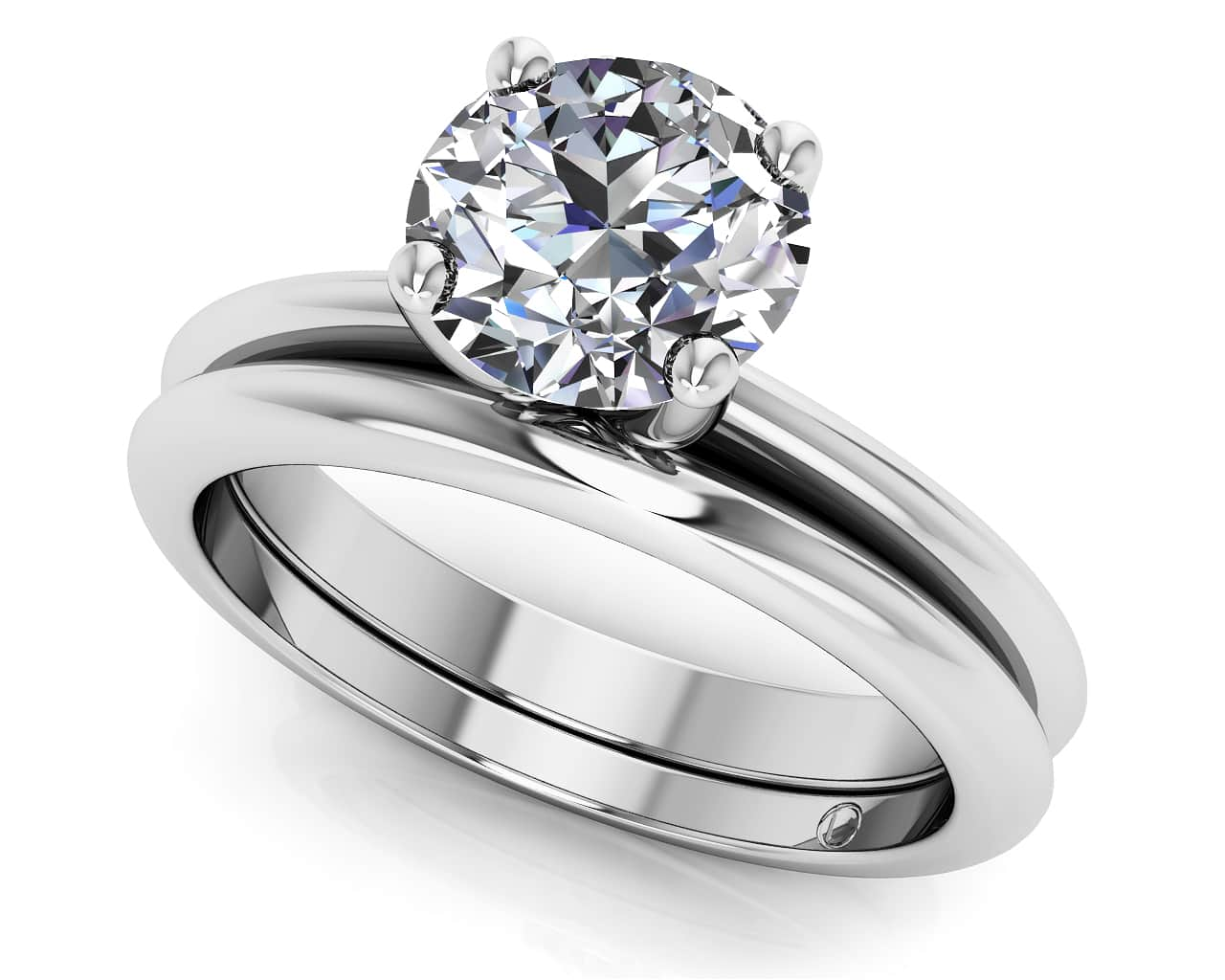 customize your wedding set matching diamond bridal set - Platinum Wedding Ring Sets