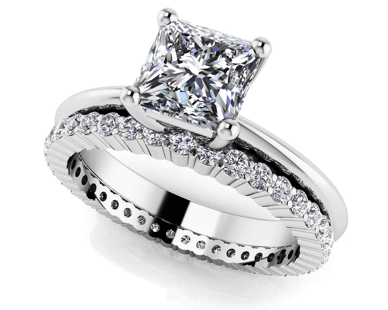 customize your wedding set matching diamond bridal set - Solitaire Wedding Ring Sets