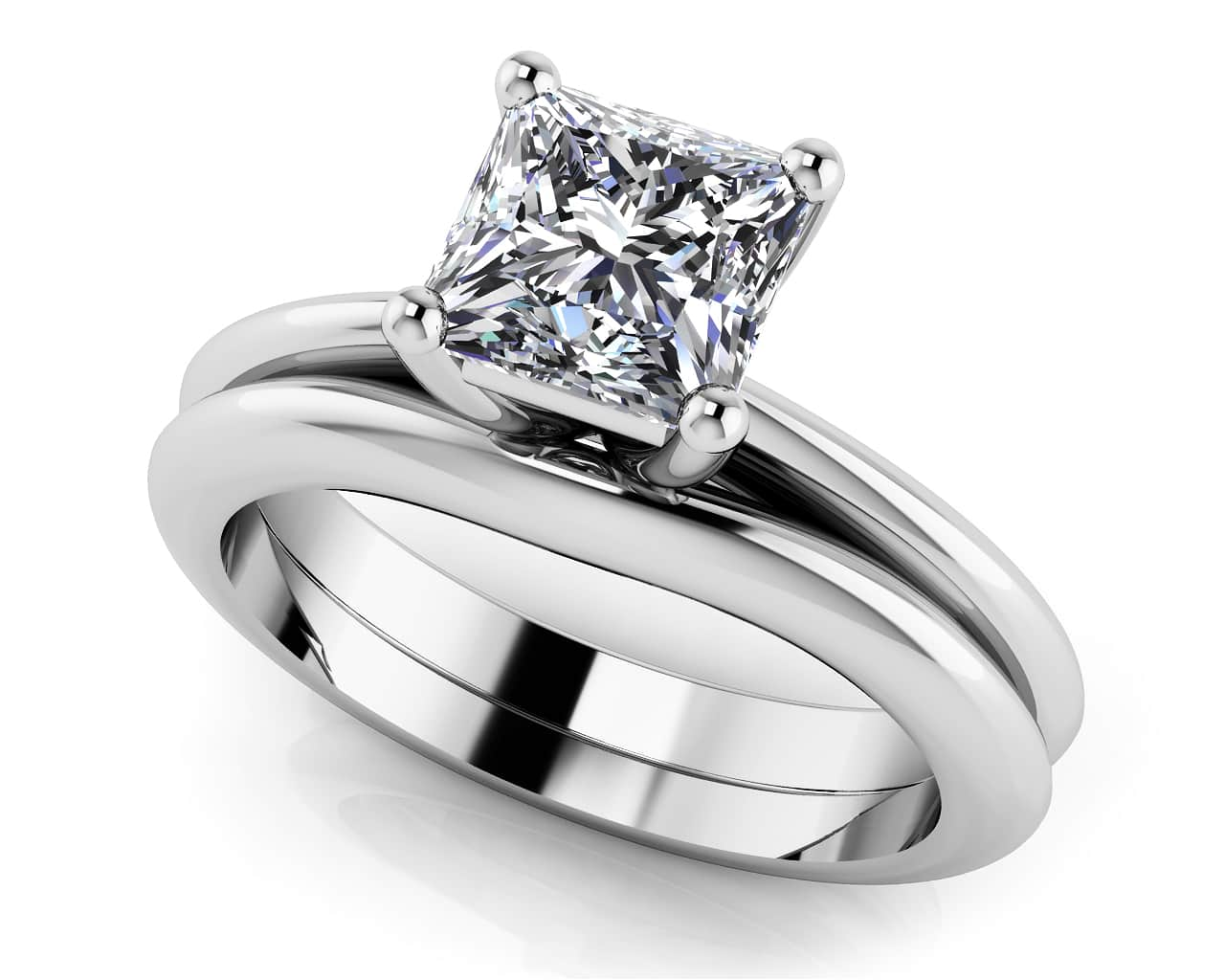 ring a diamond engagement and matching carat with trillion wedding products artemer v set rings