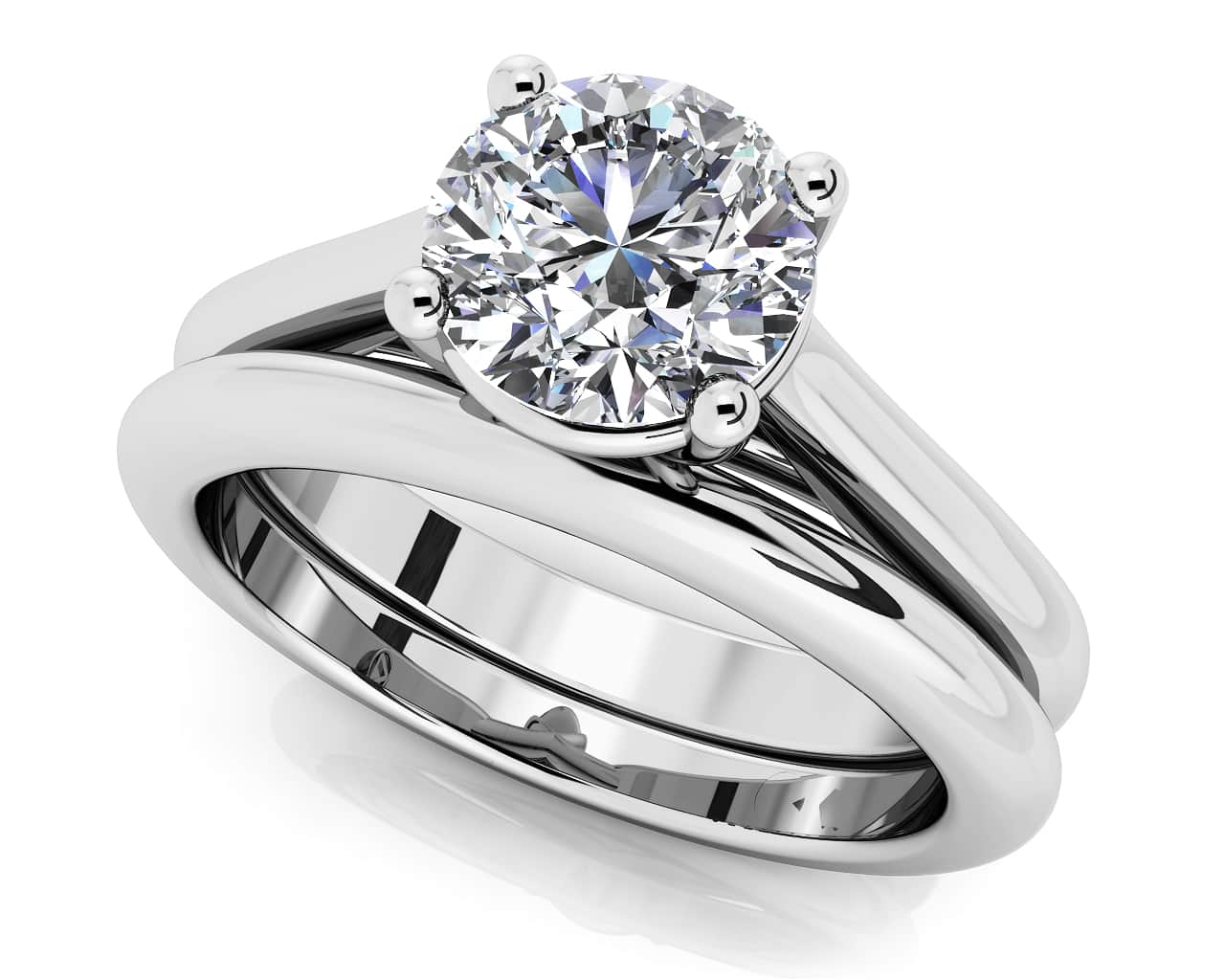 customize your wedding set matching diamond bridal set - Wedding Band And Engagement Ring Set