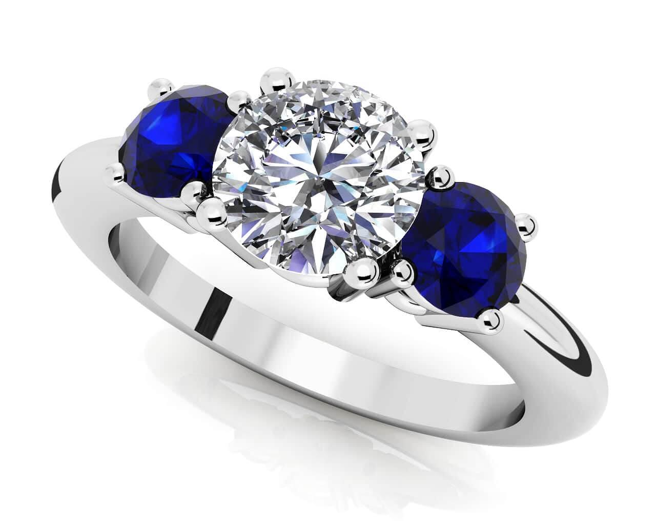 Diamond Gemstone Rings For Women