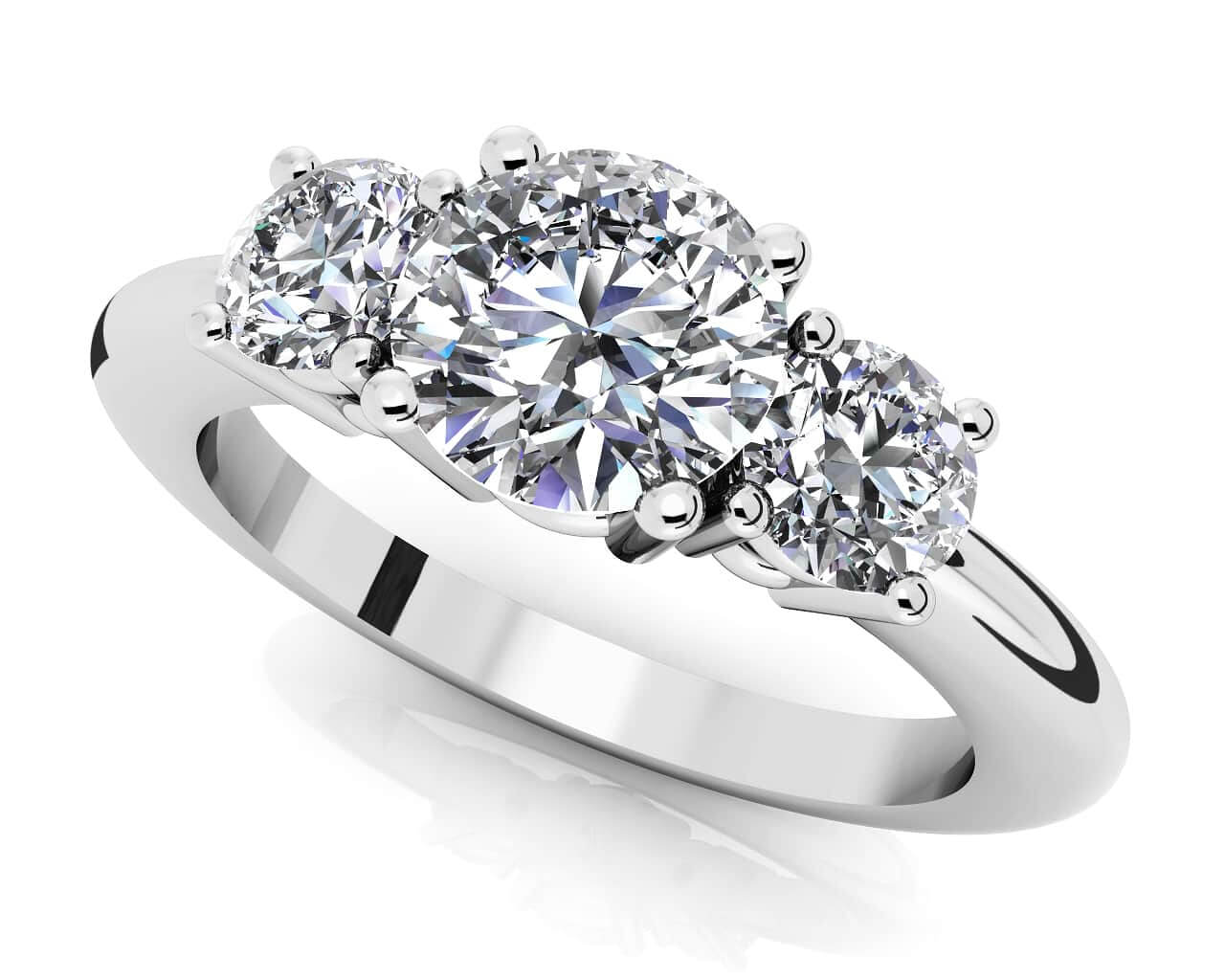round wedding engagement bands tf with three co stone band brilliant diamond ring rings ct ml tiffany shown