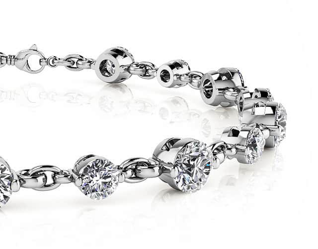 Build Your Own Diamond Bracelets From a Selection