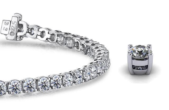 Design Your Own Diamond Tennis Bracelets