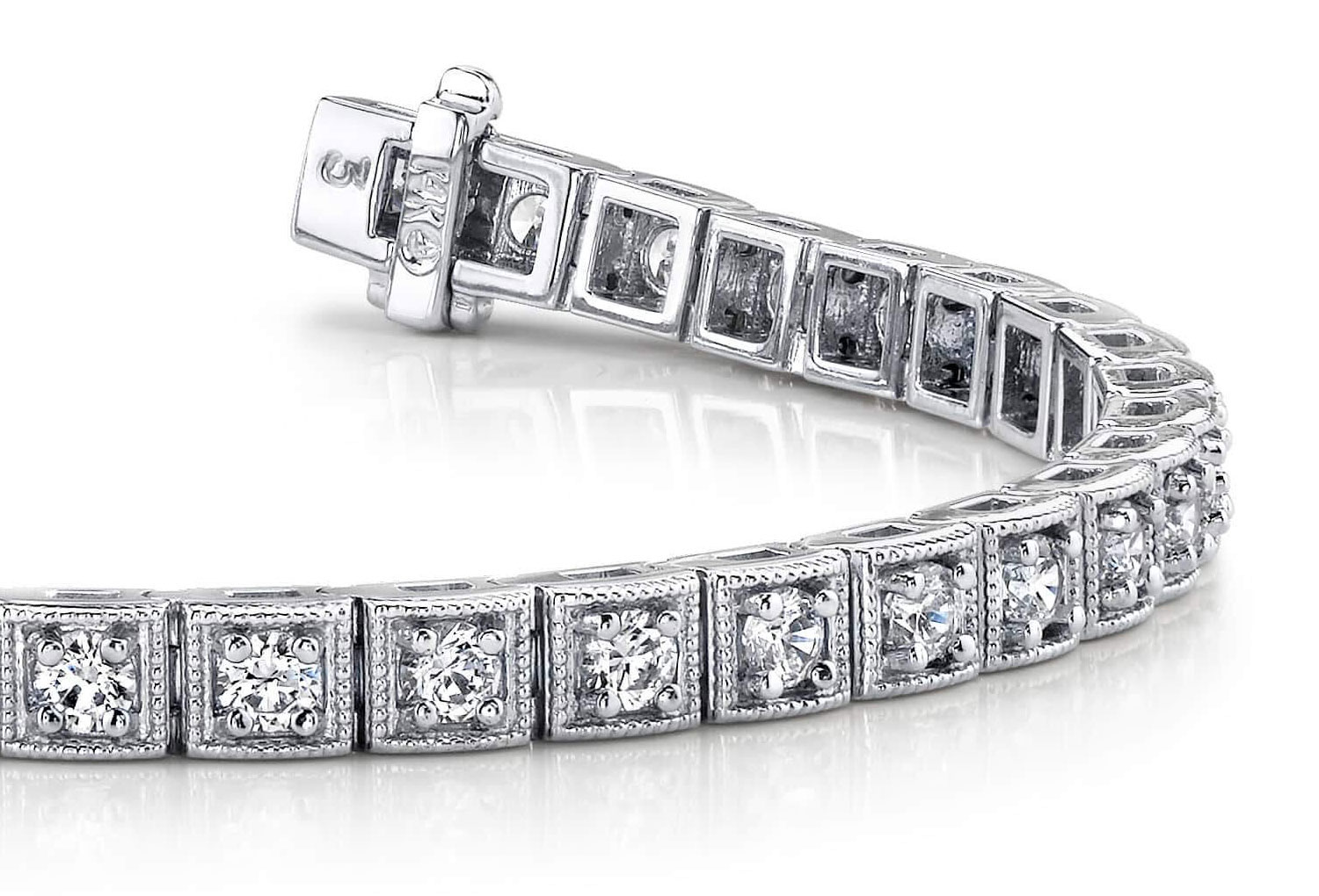 bracelet dl clear shape stone marquise vela diamond