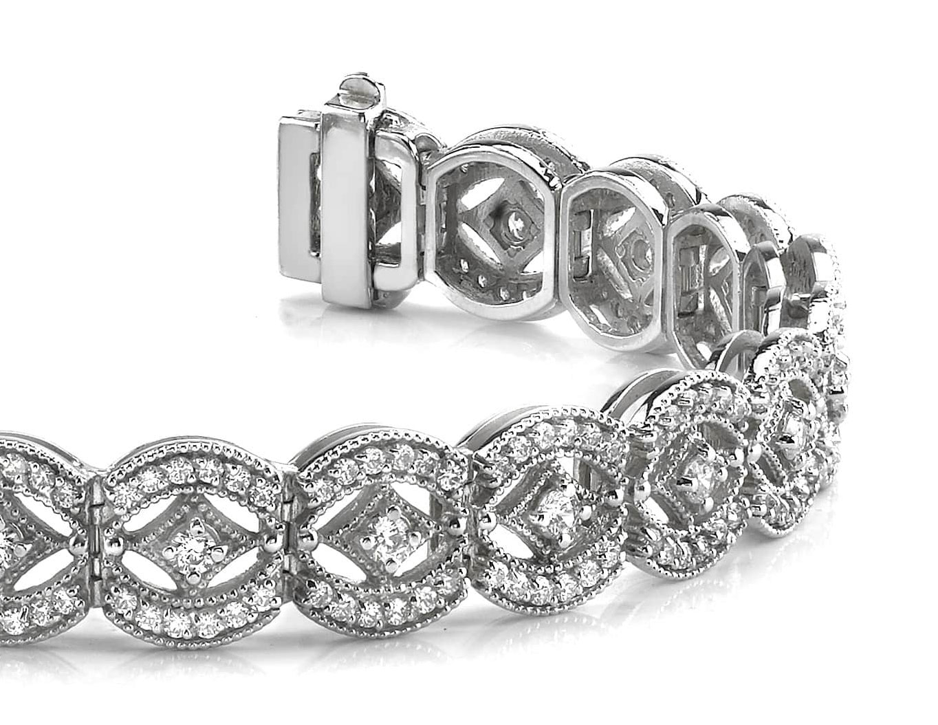 New Vintage Art Deco Diamond Bracelet
