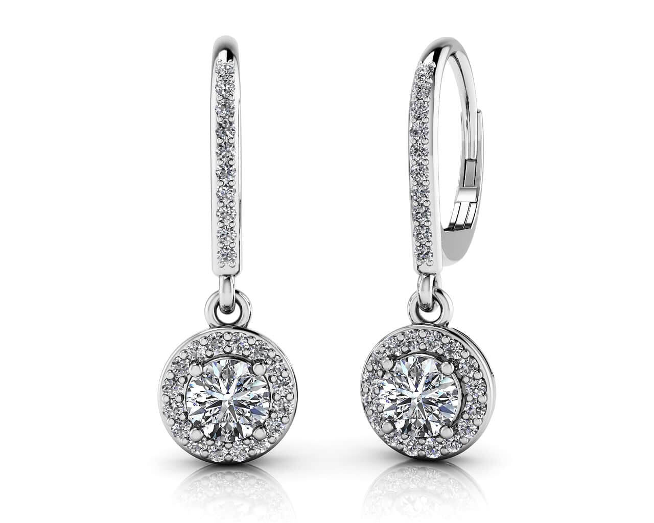 drop halo stud beers double diamond de earring aura earrings