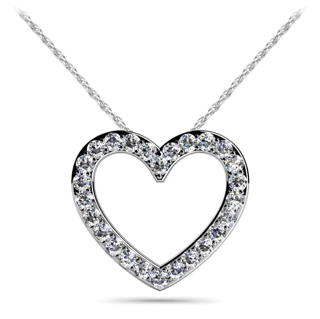 Large selection of diamond pendants diamond necklaces new perfect diamond heart pendant aloadofball Gallery
