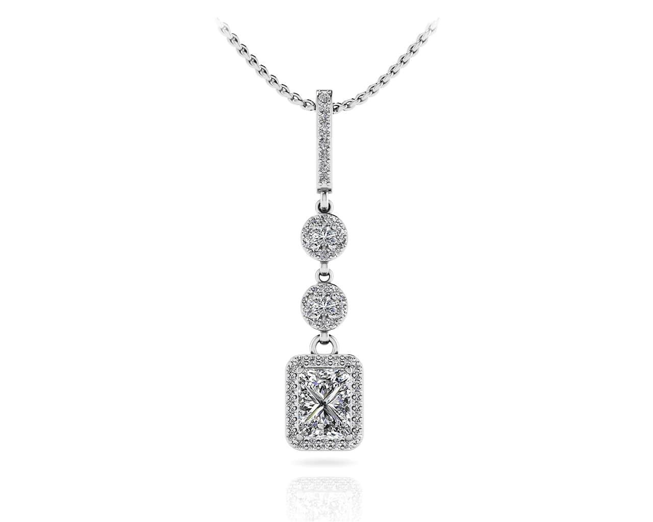 Diamond pendants necklaces for women new extravagant diamond drop pendant aloadofball Images