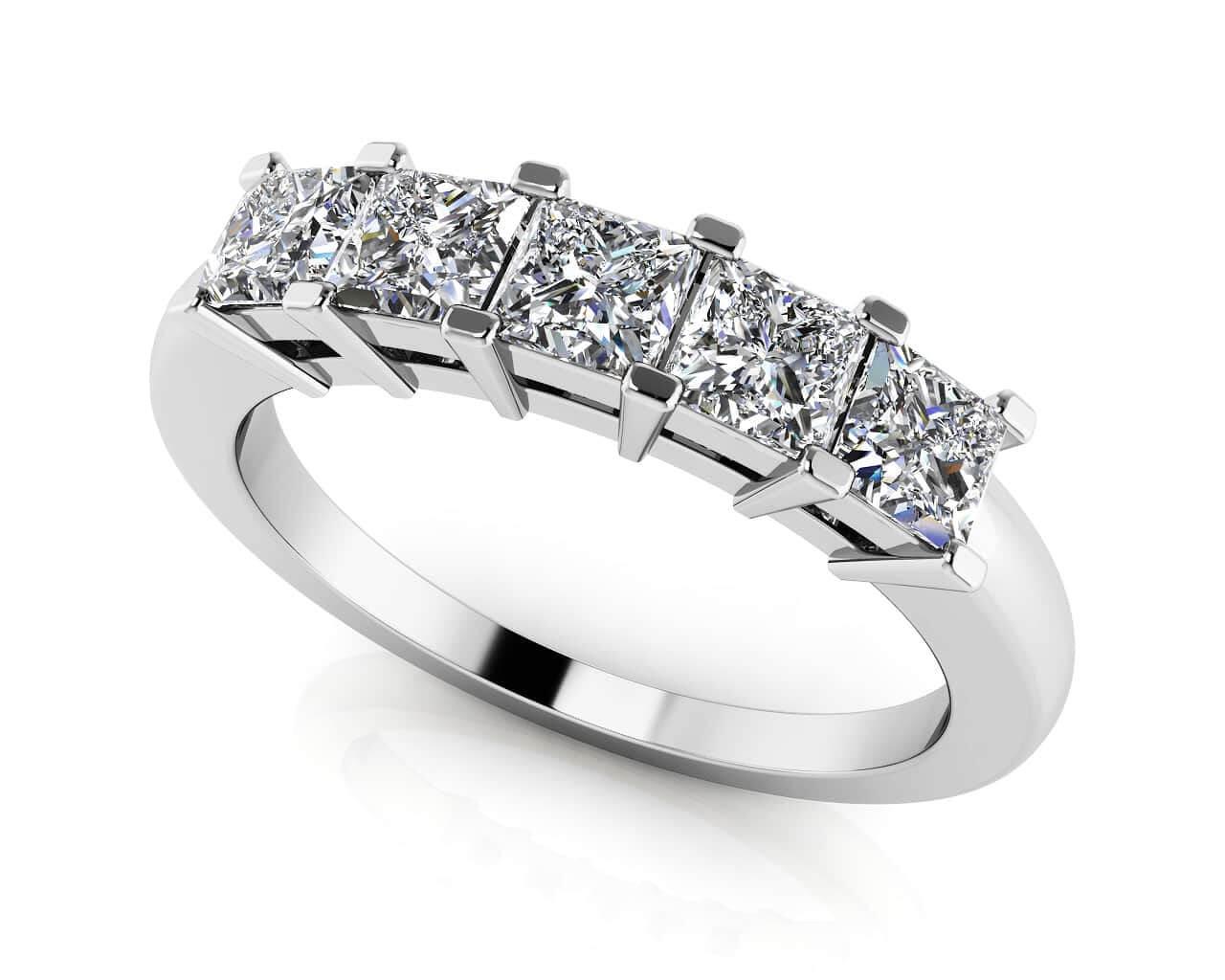 princess cut 5 anniversary ring